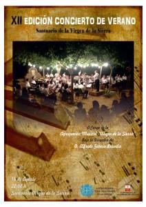 Cartel Concierto Virgen banda